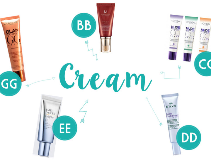 BB, CC, DD, EE y GG Cream!