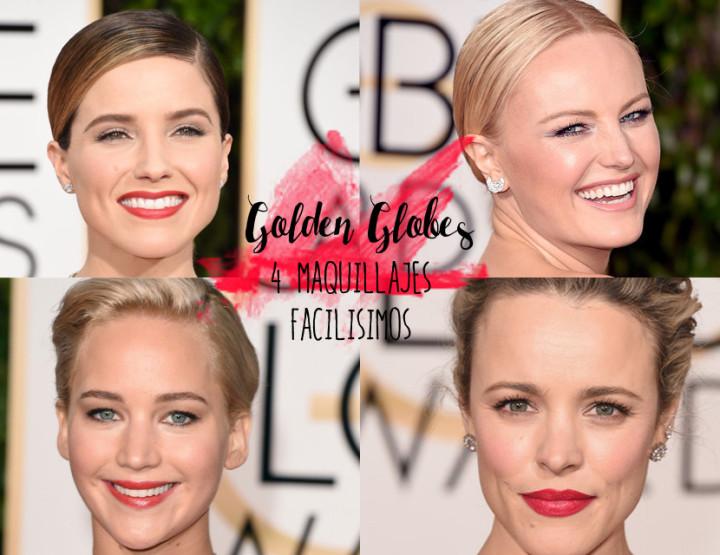 Golden Globes | 4 Maquillajes facilísimos para recrear en casa
