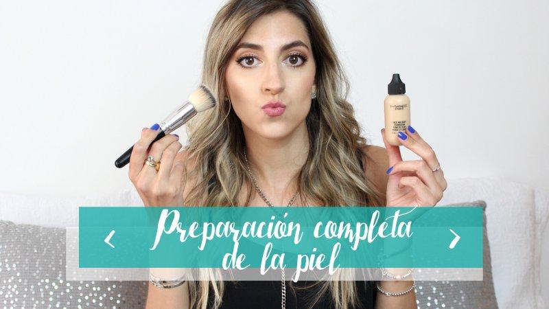 Preparación de piel completa para maquillaje de noche